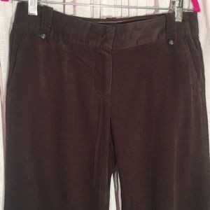 J. Crew City Fit Size 6 Brown Corduroy Pants
